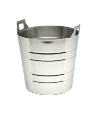Stainless Steel Ribbed Wine Bucket
