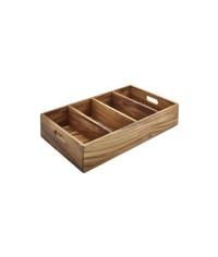 Acacia Wood Cutlery Tray
