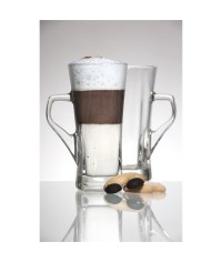 Geo Tall Coffee Glass