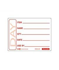 Removable Red Use By Label (50x65mm)