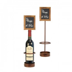 Wine Bottle Chalk Board Display (Single)