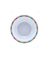 "Melamine Bowl 6"" - Coloured Circles"