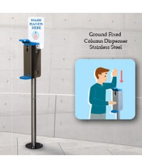 Out Door Stainless Steel Column Dispenser
